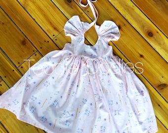 Hummingbird Flutter Sleeve Dress 4t/6t