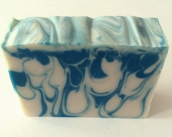 Soap for Men - Valentine Gift for Men - Cold Process Soap - Birthday Gift for Men - Handmade Soap for Men - Artisan -  Blue Soap - Axe Type
