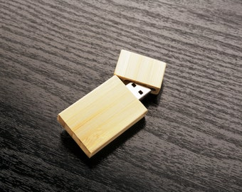Set of 10 2GB/4GB/8GB/16GB Wooden Bamboo Flash Drive - Bulk Pack - USB 2.0 Wood Bamboo Stick Design - Wood USB Flash Drive