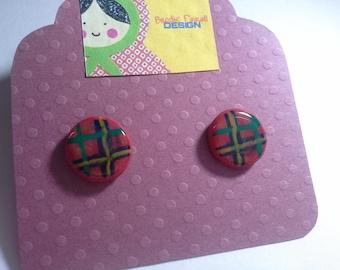 Red Tartan Earrings