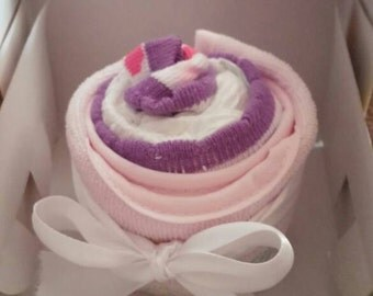 Small Diaper Cupcake FREE SHIPPING