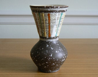 So Retro, So Kitsch and So Collectible!  West German Pottery Vase from the 1950's.