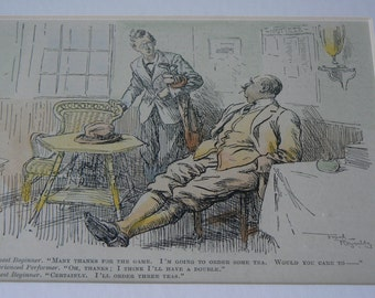 Punch Cartoon Print by Frank Reynolds Dated c. 1920.