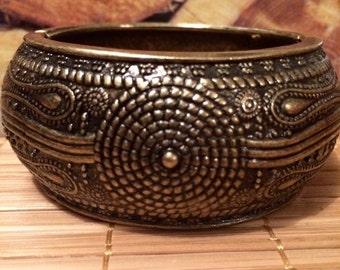 (Golden) brass Cuff Bracelet