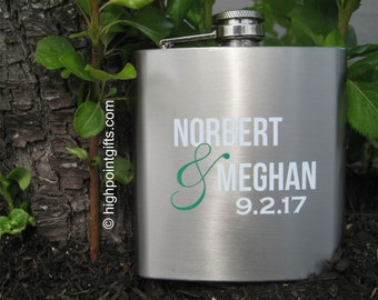 Custom Flask - Flask - Hip Flask - Stainless Flask - Full Color Personalized Stainless Steel Hip Flask