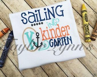 Boys kindergarten shirt, boys back to school shirt, boys school shirt, boys shirt, 1st grade, 2nd grade, 3rd grade, nautical boys shirt,