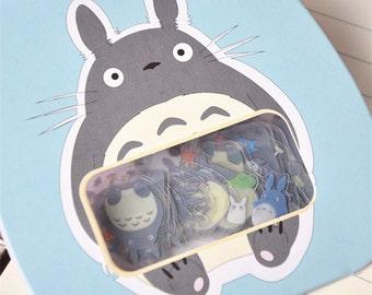 Totoro Flake Stickers Bag 60PCS - Blue