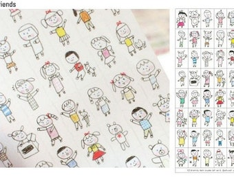 Korean Drawing Planner Deco Sticker Set 6 Sheets