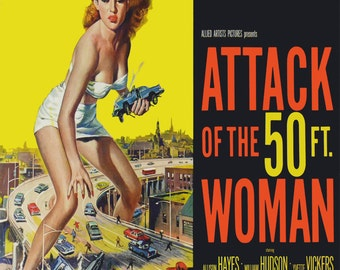 Attack of 50ft Woman rare cushion cover