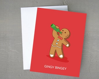 Gingy Bingey | Christmas Card | Funny Card