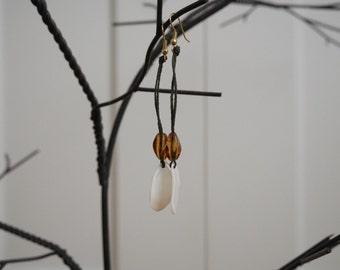 handmade gulf coast drop earrings