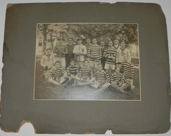Imperial Sized Circa 1905 Swarthmore College Lacrosse Team Cabinet Photograph