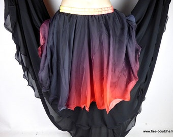 Oriental Dance SKIRT black red Gypsy gypsy jdo3