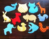 Onesie Appliques, Iron on Appliques Baby, Gender Neutral Appliques, Animal Iron On Appliques, Baby Shower Craft Activity, Baby Shower Gift