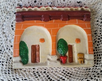 Casita de Arcilla Plaster Latin Casa House Wall Hanging Hacienda Wall Art FS