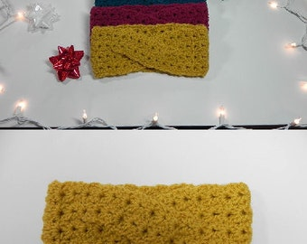Handmade Crochet Turban Twist Earwarmer
