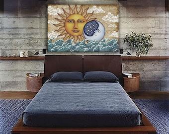"Ocean Sunshine Tapestry Wall Hanging 44""x66"" by Artist Dan Morris"