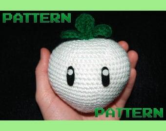 Princess Peach Mario Turnip Easy Crochet Pattern | Princess Peach Cosplay | Super Smash Brothers | LARP Weapon | Crochet Amigurumi Pattern