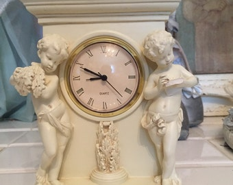 Vintage Cherub Mantle Clock