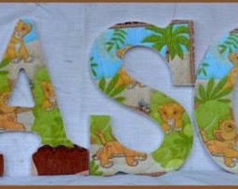 Baby Lion King Inspired Wood Letters
