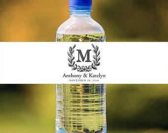 Wedding Water Bottle Labels - Custom Water Bottle Labels - Waterproof Labels - Custom Water Labels