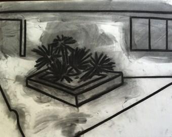 G.Turner 1970's Charcoal Still Life
