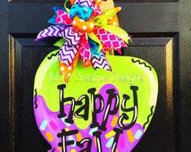 Candy Apple Door Hanger, Happy Fall Door Hanger, Halloween Door Hanger