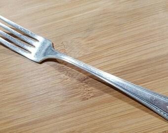 "Antique VERNON Silver 1931 CASINO Dinner Fork 7 1/2"""