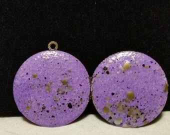 Antique Purple Enamel Locket