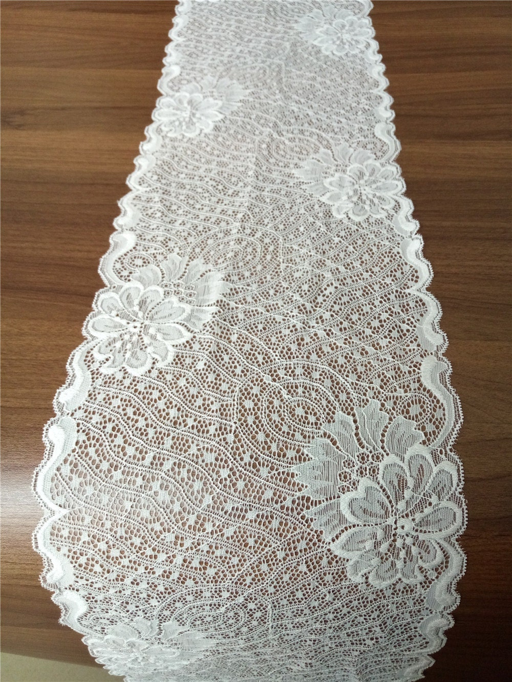 table runner white lace table runner 8 wide wedding