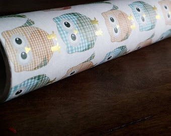 Cute Owl Wrapping Paper -Super Kawaii/Owl lover/Cute Owl Pattern/Quality/Sparkle/Shinning/Gift Wrap/party/Events/Joyful/Colorful
