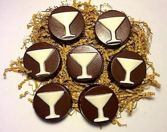 Martini Glass Belgian Chocolate Oreos