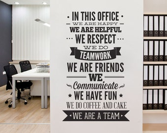 Office Decor Typography - In This Office Ultimate Typography Decal - Office Sticker  - Motivational Decals - SKU:ThisOfficeSticker