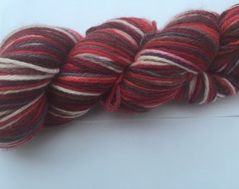 "Hand Dyed Yarn ""Black Forest Gateux"""