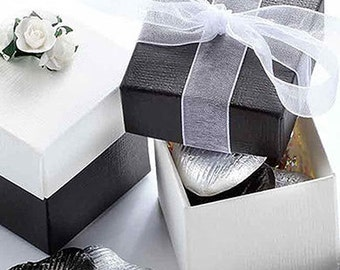 Classic Cube Wedding Favour Box 16 Colours - Pack of 10