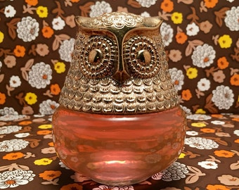 Vintage Owl Decanter Avon Collectible Perfume Bottle Gelee 1974 Roses Roses