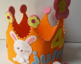 Crown and hand Conejita-cumpleanos-regalo-fiesta-ninos-ninas-hecho Medal