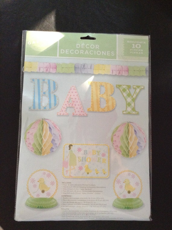 Baby shower decoration kit baby shower ideas hanging for Baby shower decoration packs