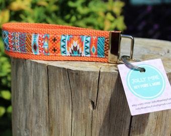 Aztec Key fob - wrist key fob - keychain -