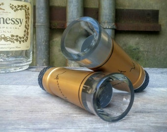 Cognac Bottle Neck Shot Glasses - Set of Two
