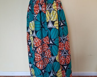 Green / Yellow,with lovely others colors Ankara/ African print Skirt