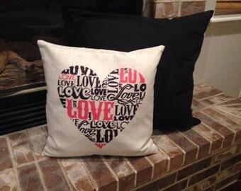 Love Heart pillow cover