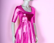 Popular Items For Metallic Pink Dress On Etsy