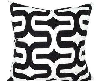 Black White Decorative Pillow Cover, Black and White Pillow, Geometric Pillow Cover, Black Throw Pillow, Embrace Black Pillow. Accent Pillo