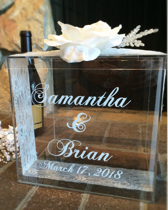 Unique Wedding Gift Card Holders : Personalized Wedding Card Box, Money Box, Wedding Gift Card Box ...