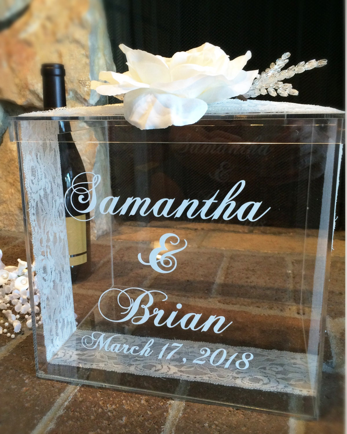 Personalized Wedding Card Box Money Box Wedding Gift Card