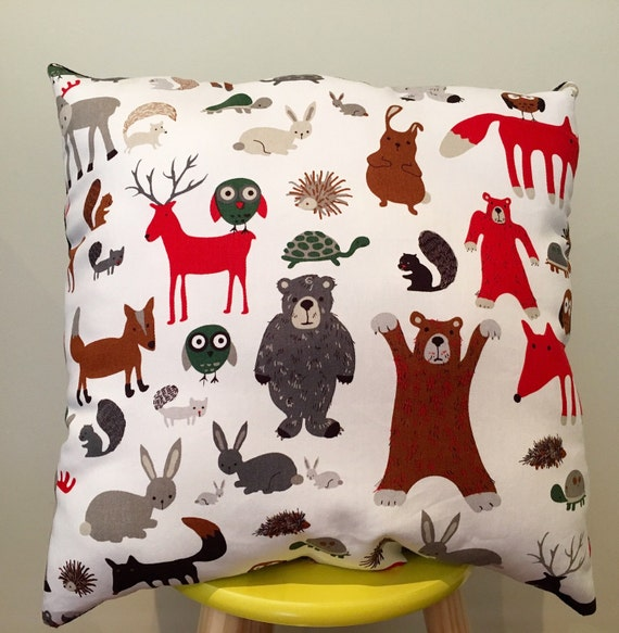 Animal Pillows For Nursery : Woodland Animal Decorative Pillow Cushion Nursery Decor Kids