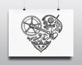 "Shop ""bicycle art"" in Prints"