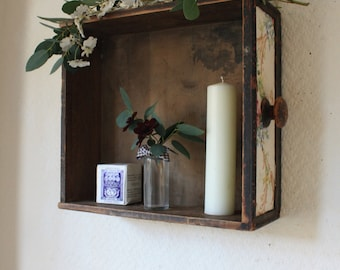 Upcycled Vintage Drawer Shelf with Pretty Sanderson Fabric