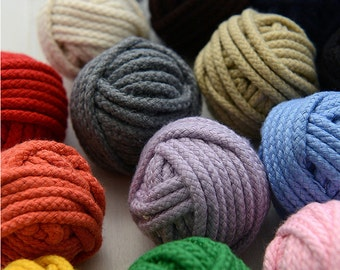 14 color choose polyester cotton rope-Twisted rope-handmade supply-6yards